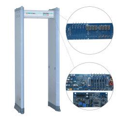 6/18 Las zonas de alarma alta sensibilidad arco detector de metales de paseo por el portón con control remoto