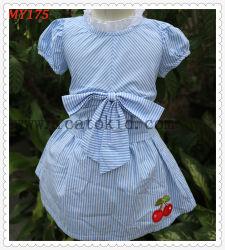 Levita bebé vestido de verano los niños de diseño de las Faldas de algodón con arco