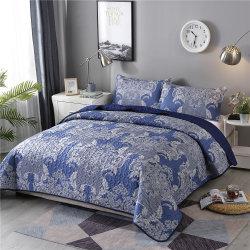 Feuille d'impression couleur lumineux de la literie en coton matelassé réversible véritable patchwork Coverlet couvre-lit ensemble