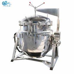 Pentola a pressione industriale rivestita automatica del vapore per la trasformazione dei prodotti alimentari
