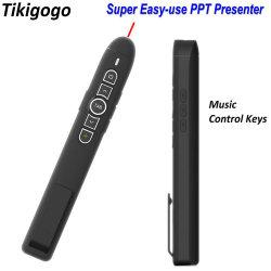 Tikigogo P30 2.4G Wireless Ppt презентатора вставьте перо опрокидывания Advancer Лазерная указка для презентаций Powerpoint презентации звук щелчка пульт дистанционного управления