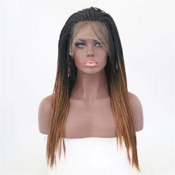 Haut de page vierge cheveu humain machine faite de fibres synthétiques de température de perruques