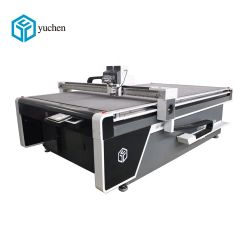 Yuchen CNC Couteau oscillant Machine de découpe pour chaussures en cuir, sac à main
