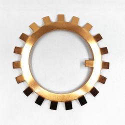 Usinage de pièces avec précision les brides de tuyau en cuivre, de cuivre par fraisage CNC