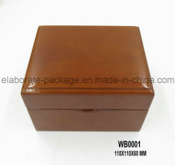 Boîte de rangement en bois fini brillant Boîte à emporter simple à main fabriquée à la main