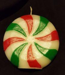 Süßigkeiten-Förmige Kerze Aus Pfefferminze