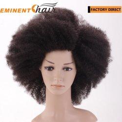 即刻配達在庫のアフリカのRemyの人間の毛髪のレースのかつら