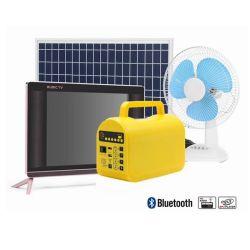 Hors-réseau du système d'accueil l'Énergie solaire Énergie solaire ventilateur CC, DC TV Marketing de l'Afrique de l'éclairage de 19 pouces