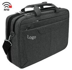 Saco para computador portátil notebook Maleta de 15,6 polegadas Messenger Bag repelente de água da caixa do computador tablet luva com bolsas de RFID