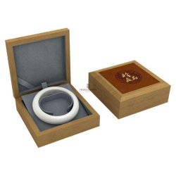 Plaza personalizado de madera maciza de joyas de madera Bangle Tienda de regalos Mostrar Embalaje