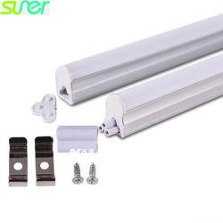 Il tubo lineare chiaro luminoso 0.3m 4W 3000K del LED T5 scalda 95lm/W bianco con il coperchio glassato