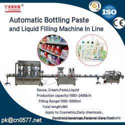Imbottigliatrice di riempimento delle 6 teste della bottiglia di vetro dell'acqua della bevanda della crema dell'olio del yogurt del liquido cosmetico minerale automatico della spremuta