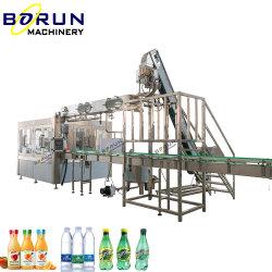 Полностью автоматическая ПЛАСТМАССОВЫХ ПЭТ-бутылки напитков жидкость питьевой минеральной чистой воды мойка заполнение розлива упаковочные машины