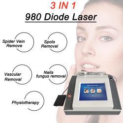 3 en 1 de 980nm Vascular Láser de Diodo de extracción de la vena&Fisioterapia& Uña hongo extracción el diodo láser 980nm