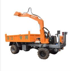 Camión volquete para obras de construcción con la excavación de la cuchara