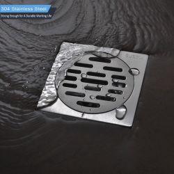 Della fabbrica scolo di pavimento quadrato dell'acciaio inossidabile della stanza da bagno e della cucina 304 di vendite 100*100 millimetro direttamente