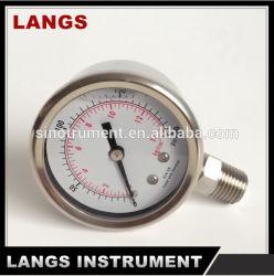 045 Magnehelic tutto il manometro dell'acciaio inossidabile