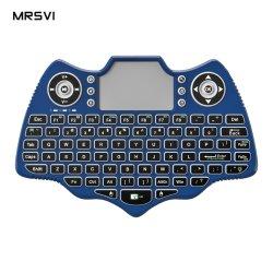 الجملة 3 في 1 MutiFunction 2.4G لوحة المفاتيح اللاسلكية الصغيرة 7 ألوان الإضاءة الخلفية 88 مفتاحا لوحة اللمس V18