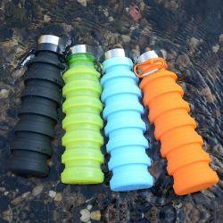 2020 Nuevo Producto 550ml de silicona sin BPA de beber una botella de agua de boca ancha