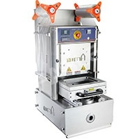 Selador automático de bandeja para embalagem de pele de tampo de mesa