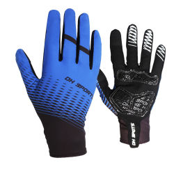 Sweat-Absorbent transpirable Non-Slip Full-Finger Unisex Moto guantes de ciclismo