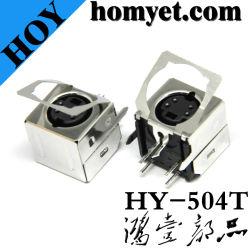 Connecteur à broches de haute qualité Min avec quatre aiguilles (HY-504T) pour le câblage de l'équipement