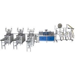 Deheng 1+3 automatique complet de la poussière non tissés jetables médical de la production Pliage 3ply Ligne de production automatique de masque Masque chirurgical Making Machine