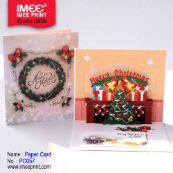 Imee Soem-Fantasie-Entwurfs-Dekoration-Einladungs-Gruß-Karten-fröhliche Weihnachtslaser-Schnitt-Weihnachtsgruß-Karten