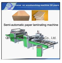 PVC semiautomático Chapa de madera o papel laminado máquina Line/ Superficie de la placa de aluminio decoración Máquina/placa de aleación de aluminio laminado de la máquina de prensa