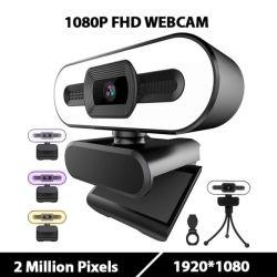 كاميرا ويب بدقة Full HD لـ OEM ODM Dropchالتسوق الحقيقي بدقة 2K وكاميرا ويب بدقة Full HD كمبيوتر شخصي Mac كمبيوتر محمول كمبيوتر سطح المكتب ثلاثي القوائم USB مع كاميرا ويب ميكروفون لـ فيديو YouTube المباشر