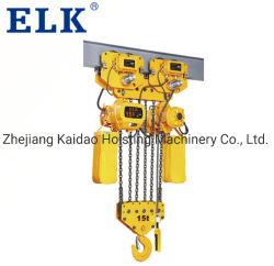 Elk 25tonne palan électrique à chaîne avec crochet de suspension