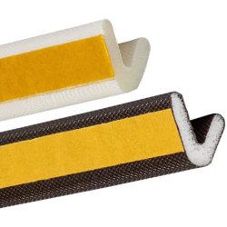 Rückseitig klebender V-Form PU-Schaumgummi Weatherstrip Türen und Fenster-Rahmen-Umhüllung-Schaumgummi-Dichtungs-Streifen