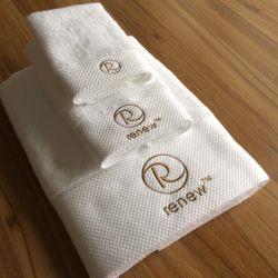 100% kämmten Baumwolleweiße BADEKURORT Tuch-Sets (DPF10701)