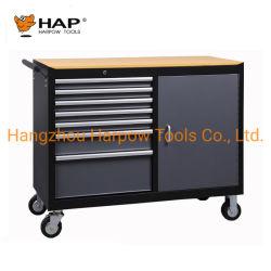 """7 выдвижных ящиков инструментального ящика шкафа Workbench 48"""" приспособления для защиты грудной клетки с деревянными верхней части"""