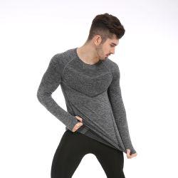 Desgaste de jogging Ginásio OEM de desgaste de exercícios de vestuário de desporto de homens de vestuário T sem camisa de manga longa Roupas personalizadas