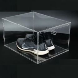 Transparente Abnehmbare Tragbare Acryl High-Heel Sneaker Schuhe Display Box