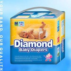 Coton doux de couches pour bébés jetables respirant (JH035)