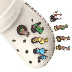 ترانسبارينتي تريمف إلى حذاء أطفال PVC ناعم مخصص لابنتي تينكربيل تيسلا فان فنوم أس للكروك الرجال charms