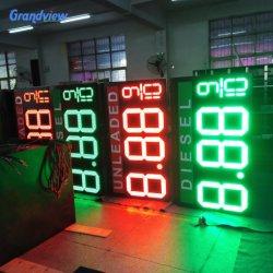 سعر وقود الغاز علامة 7 أرقام LED كبيرة الحجم علامة سعر اللوحة مع عرض مؤشر LED لسعر الغاز 88.88