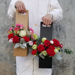 安い花の紙袋は多数花のWindowsの紙袋の植木鉢のパッケージを大きさで分類する