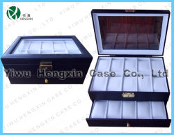 Cuir synthétique Watch Display Lether Watch Case Cas (HX-C-1107)