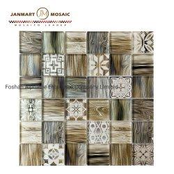 Высокое качество новых стены искусство деревянной мозаики мозаики мозаика из стекла для ванной комнаты