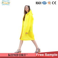 Amarillo Rainwear largo Poncho impermeable de PVC
