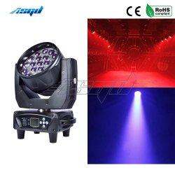 ズームレンズ19X15W RGBW 4in1 LED KTV棒党Muiscコンサートのホテルのための移動ヘッドライトDMX 16/24チャネルの段階の洗浄ビーム効果