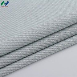 중국 직물 공급자 도매 통기성 셔츠 직물 폴리에스테르 면 뒤틀기 뜨개질 Rib 직물