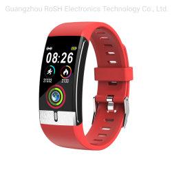 L'ECG de la marque propre ODM OEM PPG Smart Watch E66 étanches IP68 moniteur de la température corporelle Smart thermomètre de la santé SDK Smartwatch