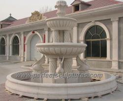 Jardim pedra granito e mármore Bebedouro com colunas esculpidas Swan Escultura Animal (SY-F357)
