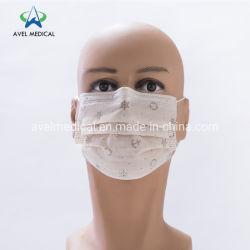 На заводе прямые поставки одноразовые 3ply нетканого материала маску для лица Bfe 95 фильтровальной бумаги маску для лица с Earloop