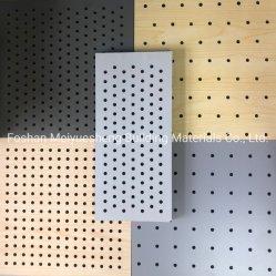3D настенные панели 0,5 мм Micro перфорированные отверстия шпона дерева акустические деревянные панели