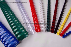 6mm-51mm spirale plastique PVC coloré reliure peigne sonne 19 21 de la Chine peignes en plastique